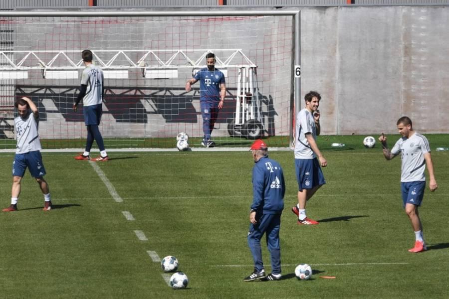 En medio de la pandemia, el Bayern de Múnich volvió a entrenar