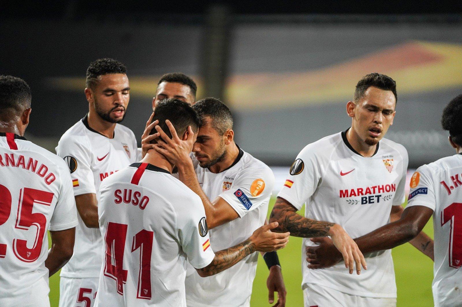 Sevilla y Manchester United igualan por las semifinales de la Europa League