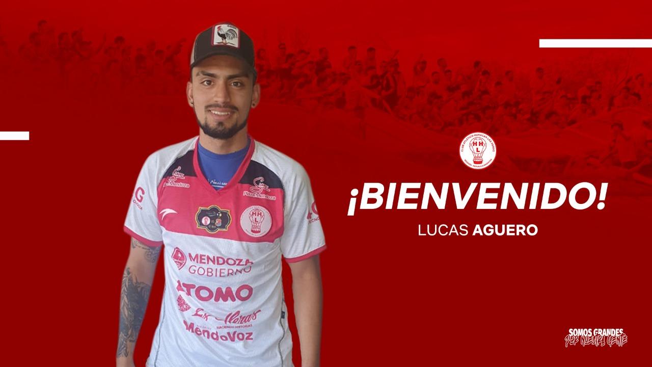Lucas Agüero y su felicidad por llegar a Huracán Las Heras