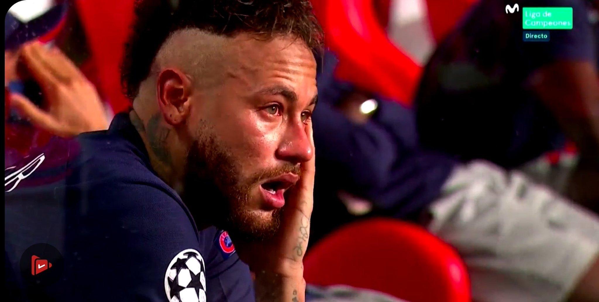 El llanto de Neymar luego de la derrota del PSG