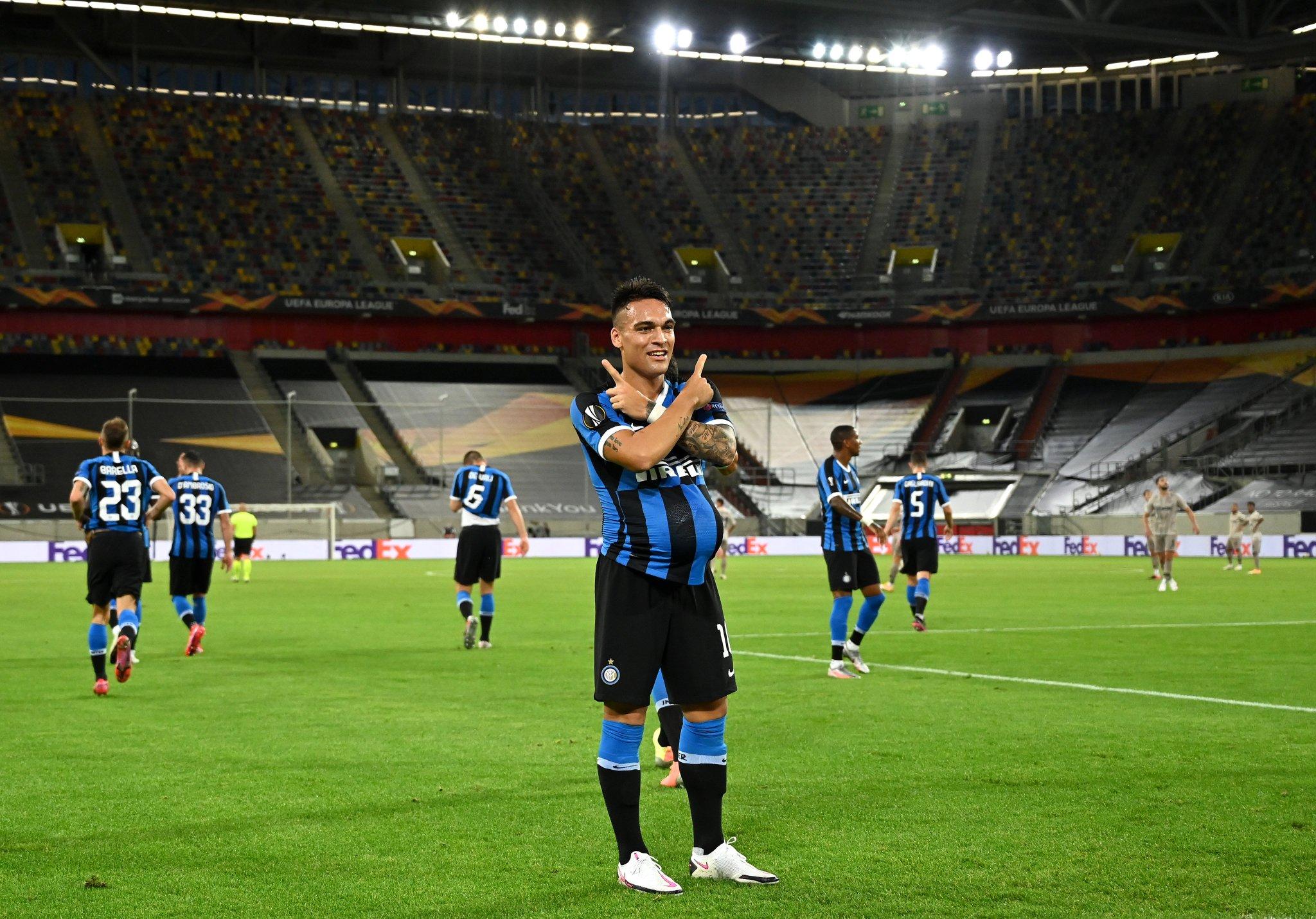 Por Lautaro Martínez, el Inter gana en la semifinal de la Europa League