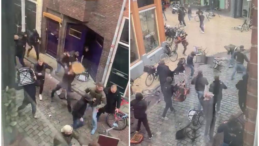 Video: hinchas holandeses y alemanes a las piñas en un amistoso