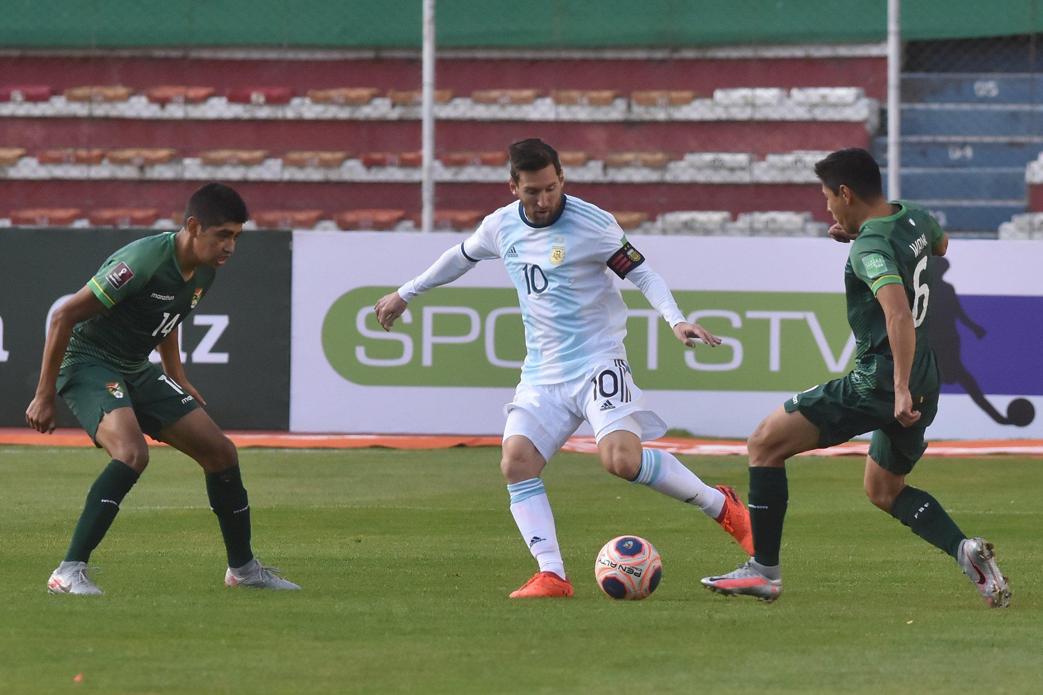 Argentina iguala 1 a 1 con Bolivia en la altura de La Paz