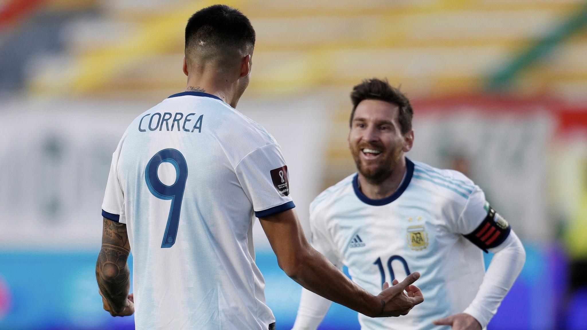 Argentina le ganó 2 a 1 a Bolivia en la altura de La Paz
