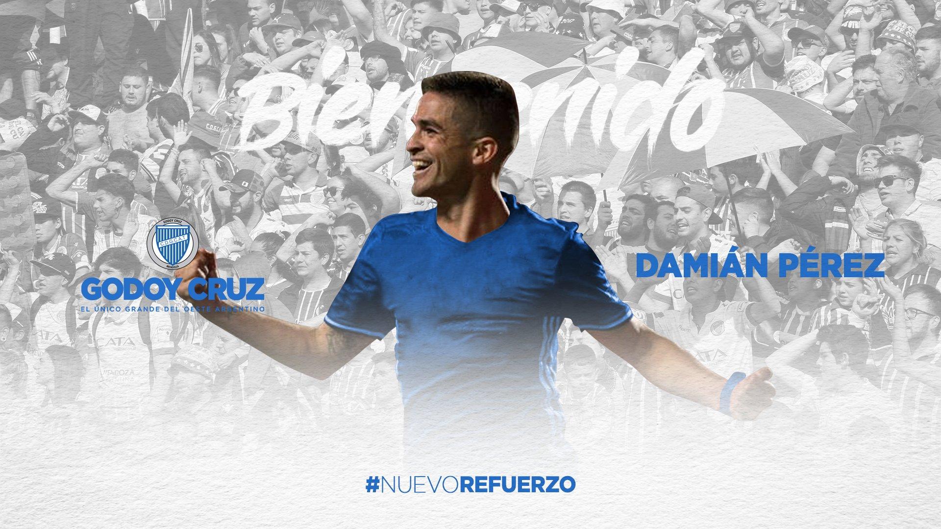 Godoy Cruz presentó a Damián Pérez
