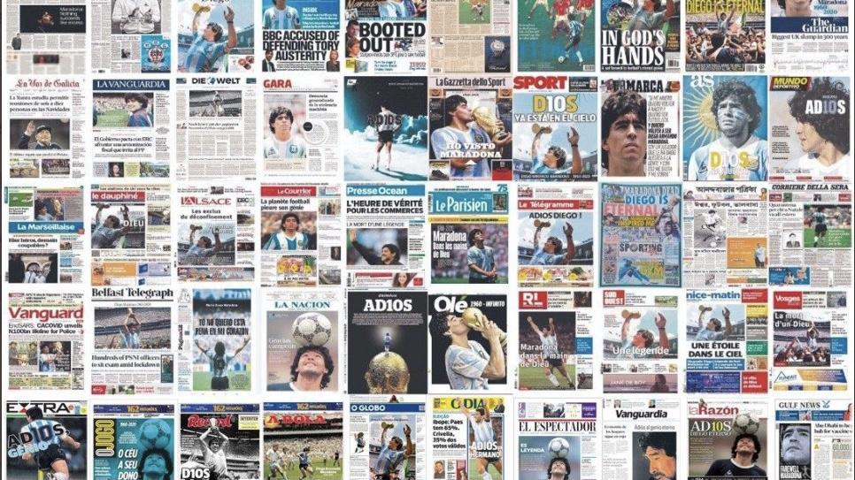 Maradona Eterno: el Diez en todos los diarios del mundo