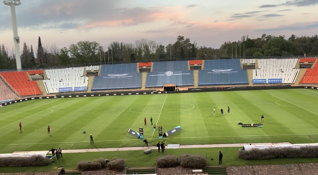 El impecable Estadio Malvinas Argentinas
