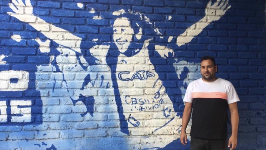 Los hinchas de Godoy Cruz y un gran gesto al Tanque Gimenez