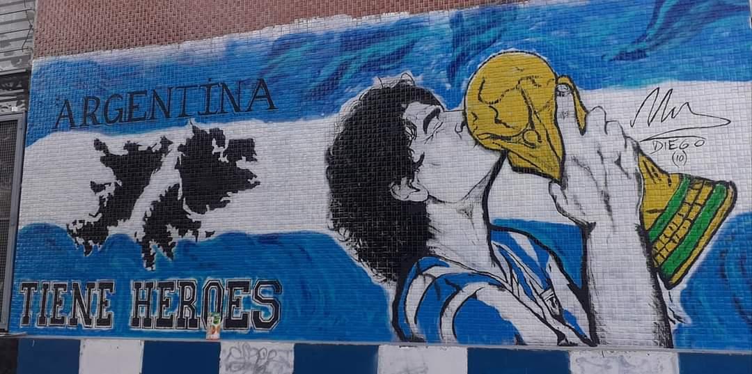 Los murales del Tomba en homenaje a Diego Maradona