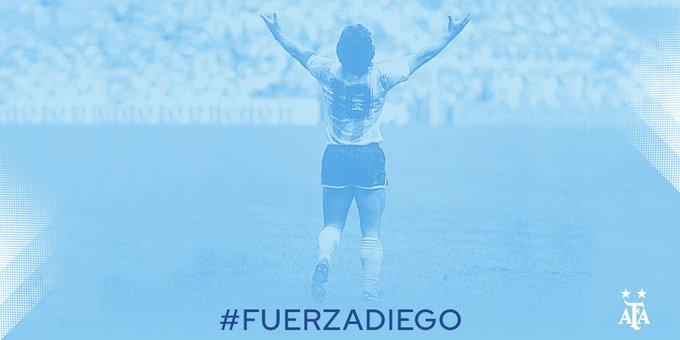 El mensaje de la Selección Argentina para Diego Maradona