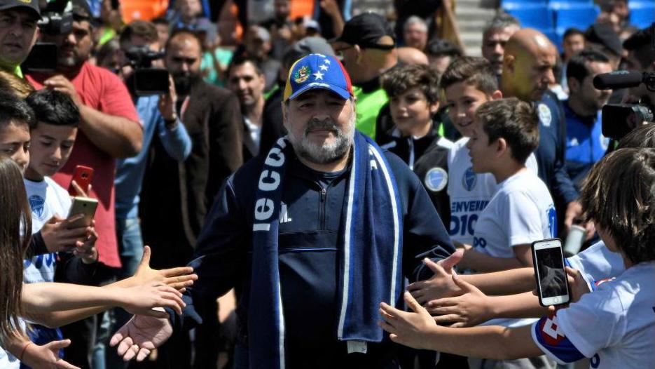 La última visita de Diego Maradona a Mendoza