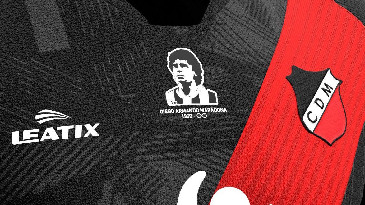Deportivo Maipú presentó una increíble camiseta en honor a Diego Maradona