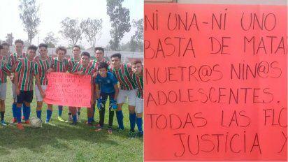 Los juveniles de Guaymallén pidieron justicia por Florencia Romano