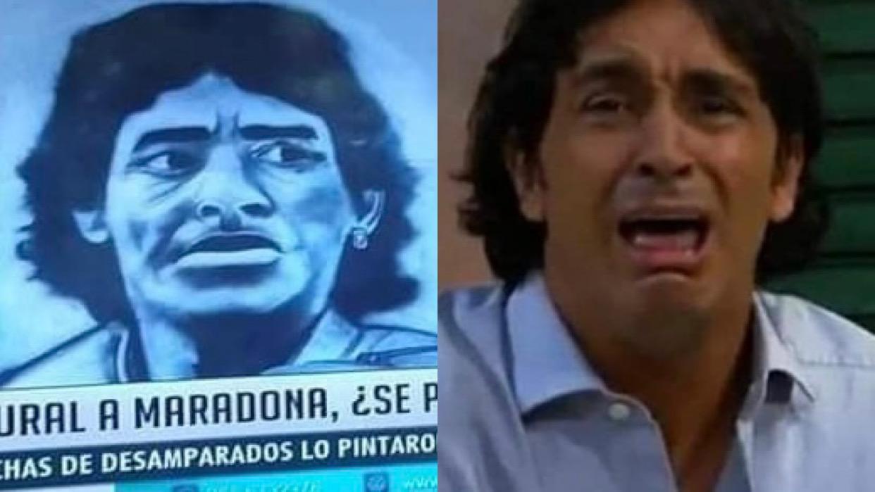 San Juan: otro mural de Maradona se hizo viral en redes