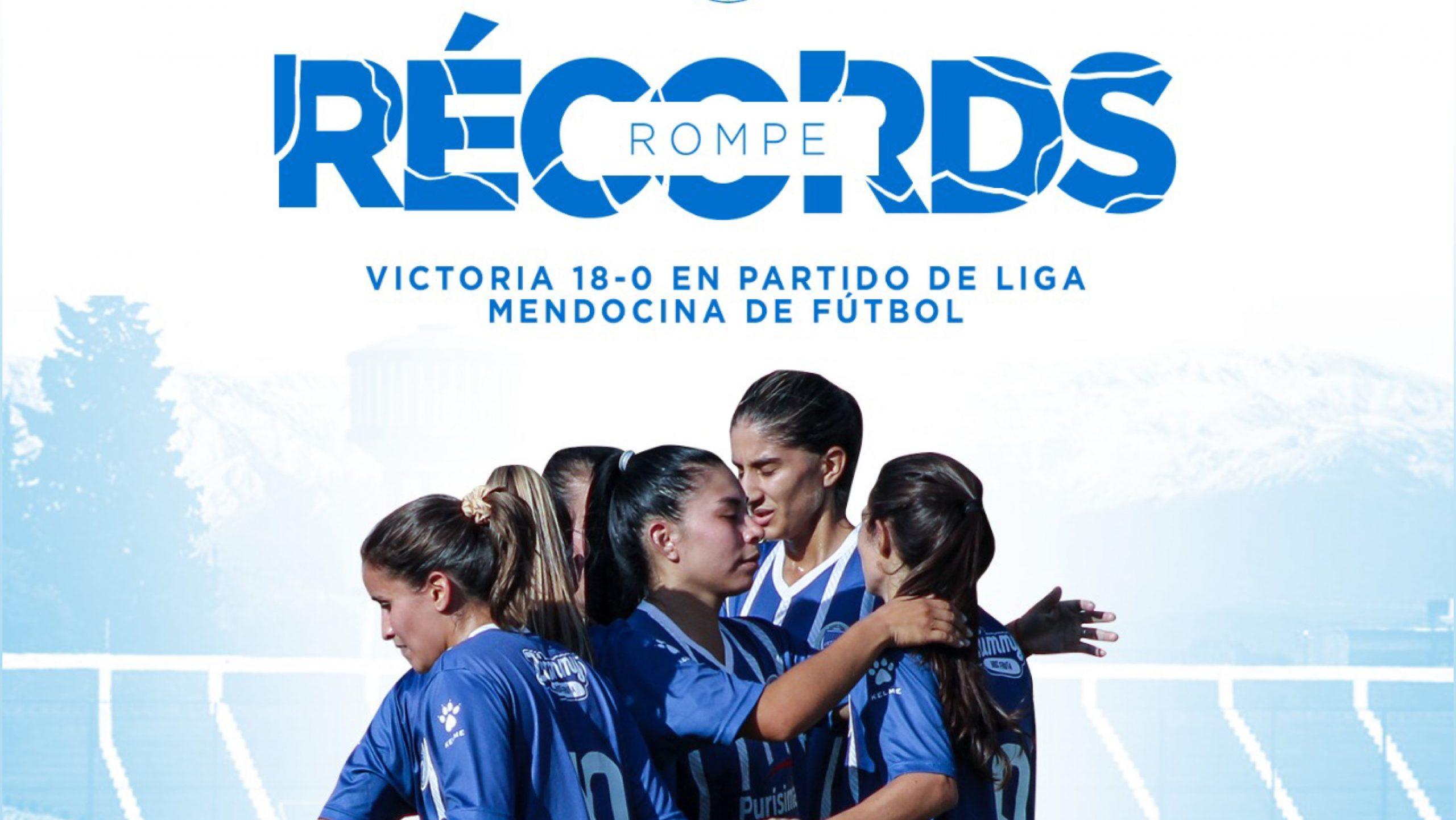 Godoy Cruz histórico, 18 a 0 en el fútbol femenino