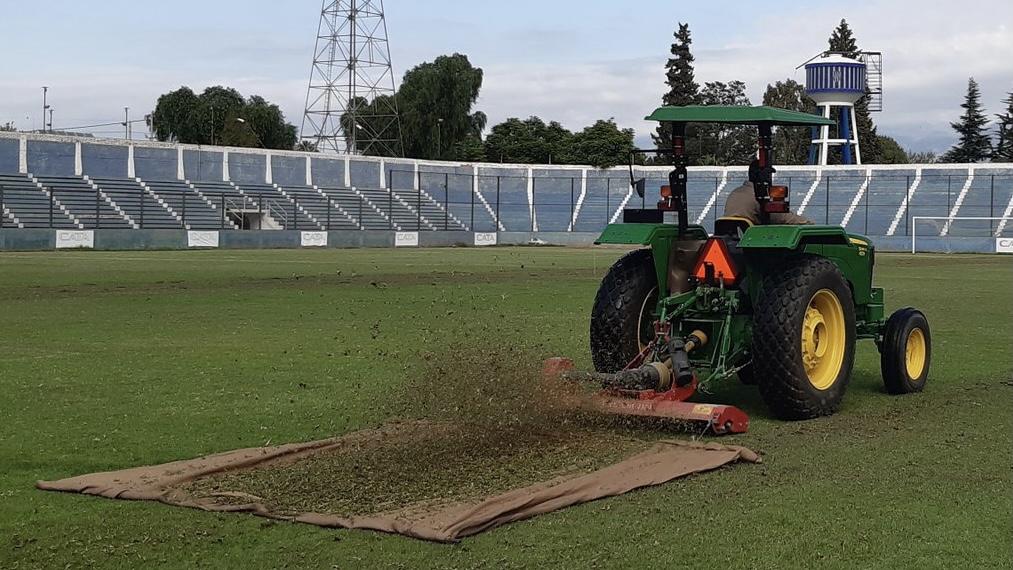 Comenzaron los trabajos en el Estadio Feliciano Gambarte