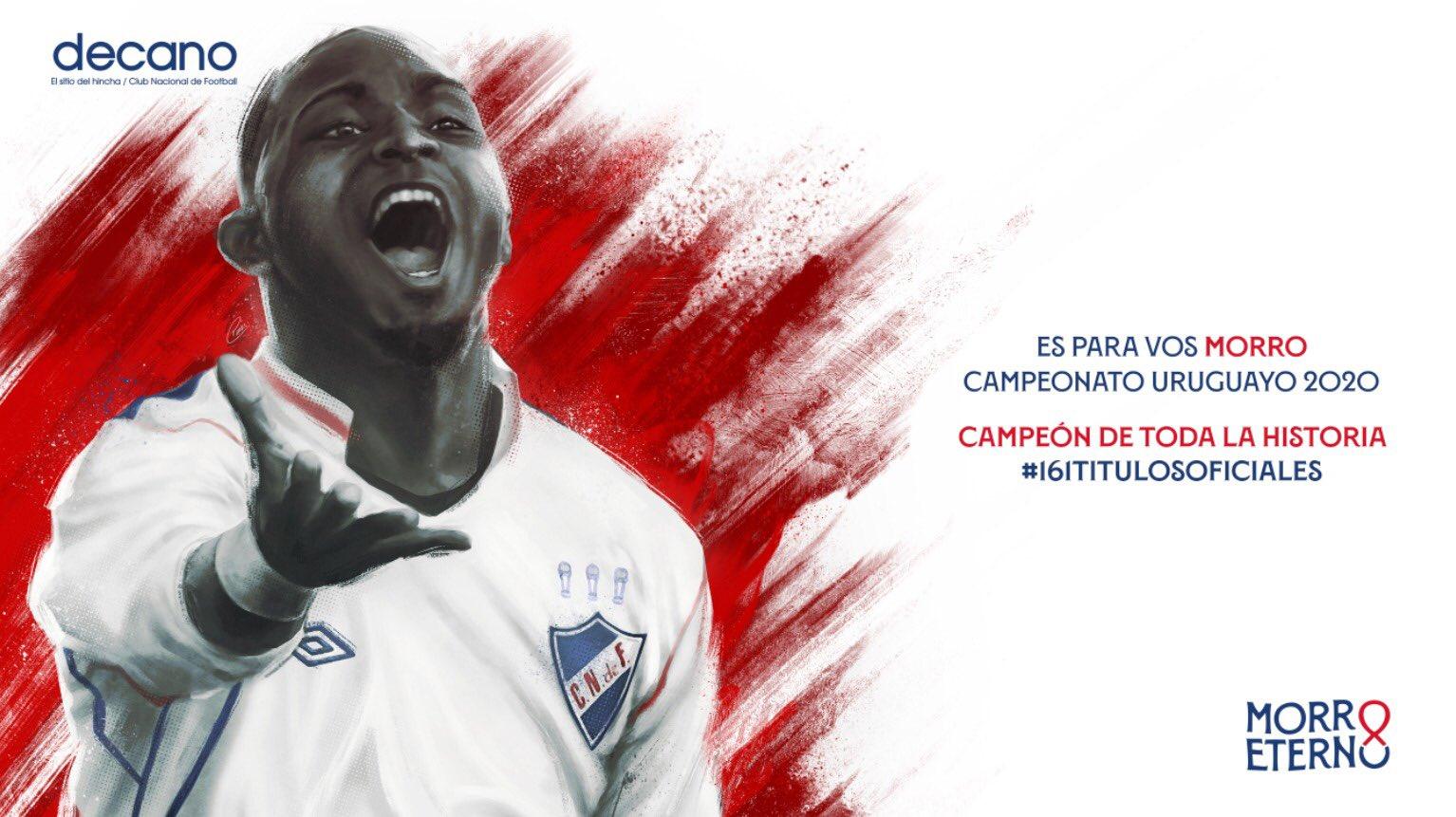 Nacional de Uruguay le dedicó el campeonato al Morro