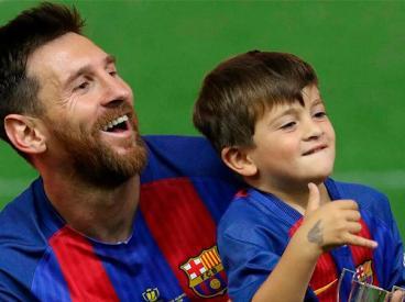 Thiago Messi le respondió a un hincha y el video se volvió viral
