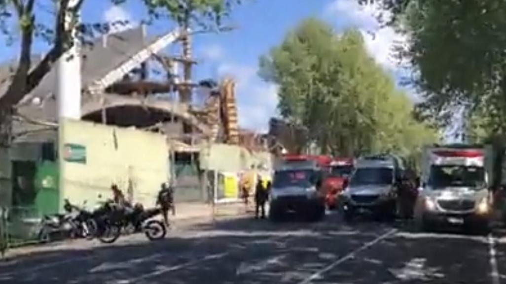 Video: se derrumbó el estadio de un equipo de la Primera Nacional