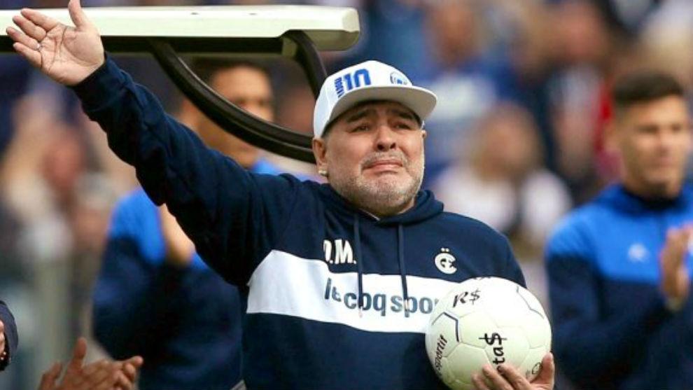 A 2 años de la presentación de Diego Maradona en Gimnasia, su último club