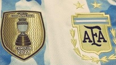 Argentina campeón: el parche que utilizará la selección en las Eliminatorias