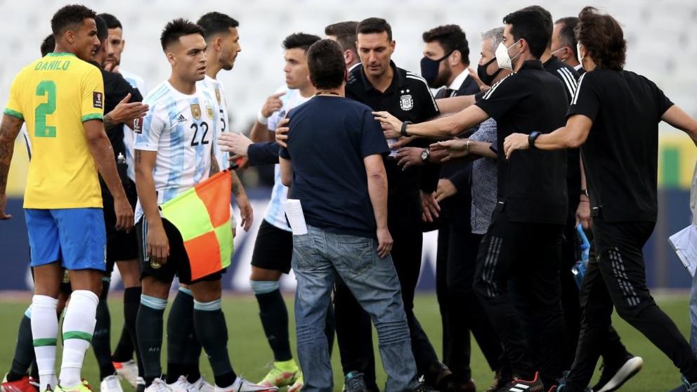Papelón: se suspendió Argentina Brasil en San Pablo