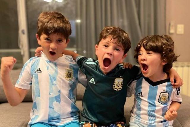 Video: Furor por los hijos de Messi bailando al ritmo de Bizarrap