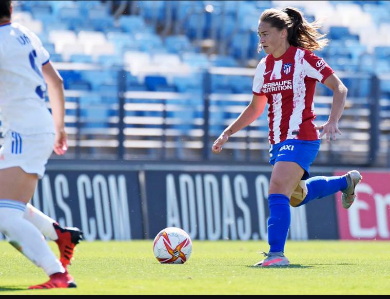 La mendocina Estefanía Banini y un gran comienzo en el Atlético Madrid