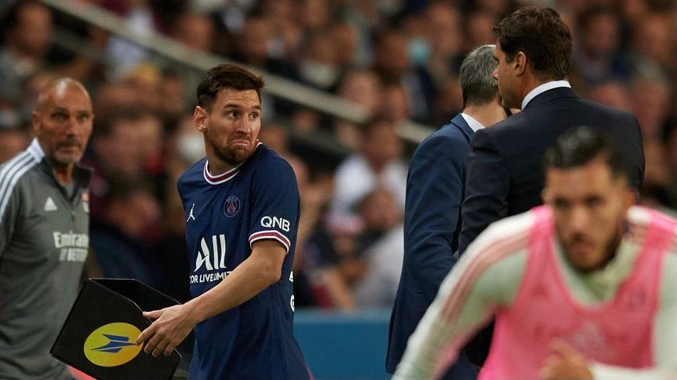Video: el enojo de Messi con Pochettino en el PSG