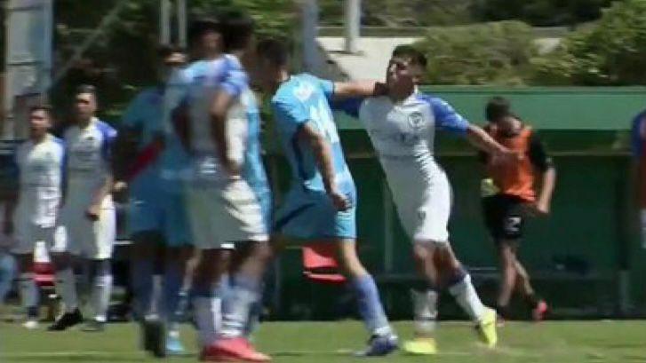 Video: los jugadores de Godoy Cruz a las piñas en el partido ante Arsenal